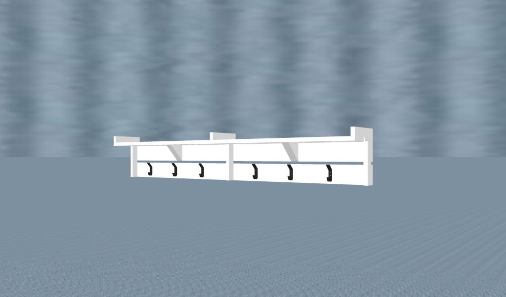 Coat Hange w: Shelf Model