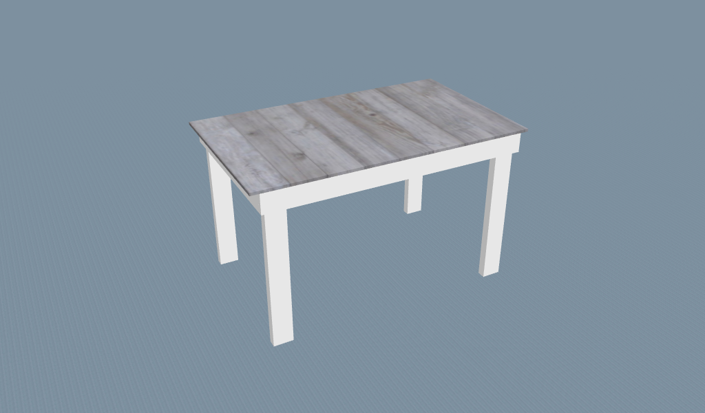 Wood Table Model